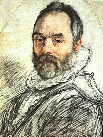 Portrait of Giambologna by Hendrick Goltzius (1591).