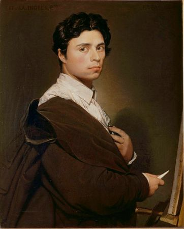 Self-Portrait at Age 24, by Jean Auguste Dominique Ingres (1804).