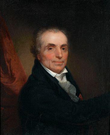 Portrait of Jean-Antoine Houdon by Rembrandt Peale (1808).
