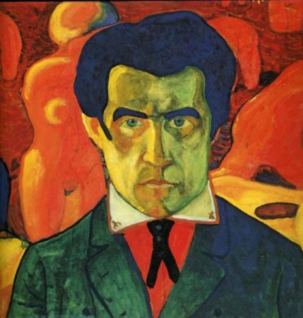 A Self-Portrait by Kazimir Malevich dating between 1908 and 1912.