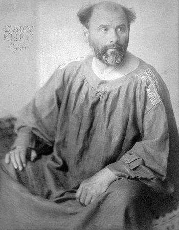 Gustav Klimt, photographed by Josef Anton Trčka (1914).