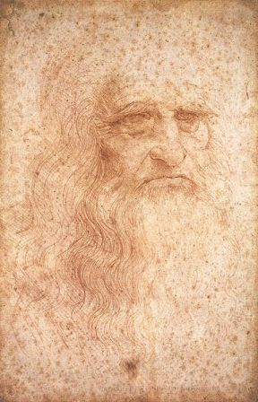 Self-Portrait of Leonardo da Vinci (c. 1512).