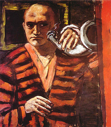 Max Beckmann - Self-Portrait with Horn.