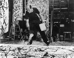 Jackson Pollock, photographed by Hans Namuth (1950).