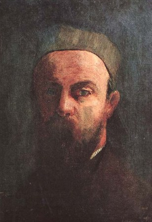 Self-Portrait of Odilon Redon (1880).