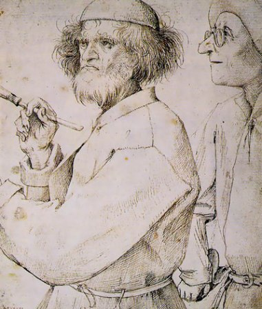 Pieter Bruegel the Elder (left figure believed to be self-portrait).