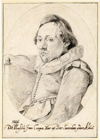 Portrait of Pieter Saenredam by Jacob van Campen (1628).
