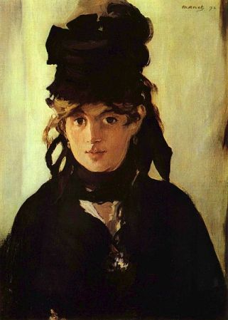 Portrait of Berthe Morisot by Edouard Manet (1872).