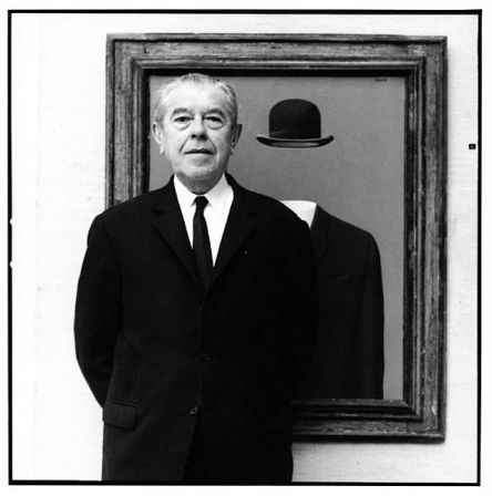 Rene Magritte, photographed by Lothar Wolleh (1967).