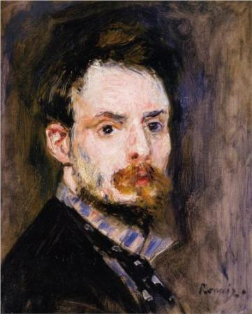 Self-Portrait of Pierre-Auguste Renoir (c. 1875).
