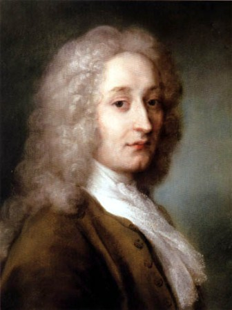 Portrait of Antoine Watteau by Rosalba Carriera (1721).