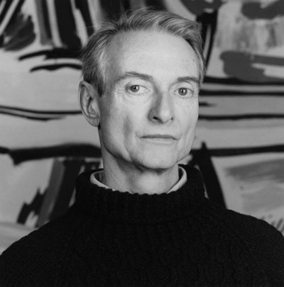 Roy Lichtenstein, photographed by Robert Mapplethorpe (1985).