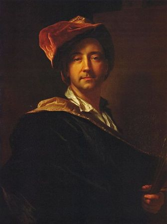 Self-Portrait in a Turban, by Hyacinthe Rigaud (1698).