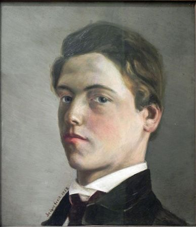 Self-Portrait of Wilhelm Leibl at age 18.