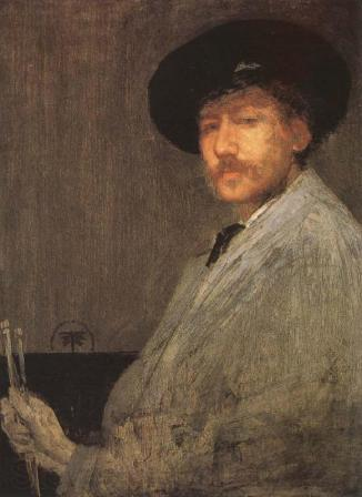 Arrangement in Gray: Portrait of the Painter, self-portrait of James McNeill Whistler (c. 1872).
