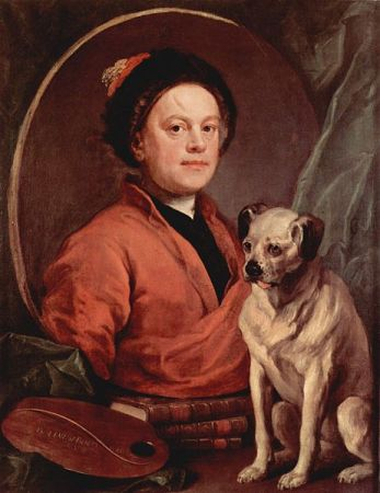 The Painter and His Pug (1745) is a self-portrait by William Hogarth.