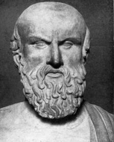 A bust of Aeschylus, probably a Roman copy of a Greek original, now at the Capitoline Museums in Rome.