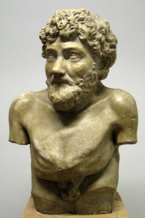 A cast of a bust of Aesop located in the Pushkin Museum. The original marble statue, from 300-31 BCE, is in the Art Collection of Villa Albani in Rome.