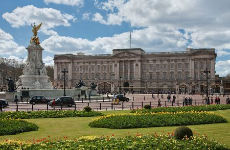 Buckingham Palace began as a small house for members of the royal family.