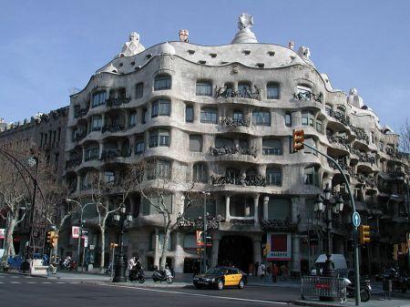 Antoni Gaudì's Casa Mila residence in Barcelona.