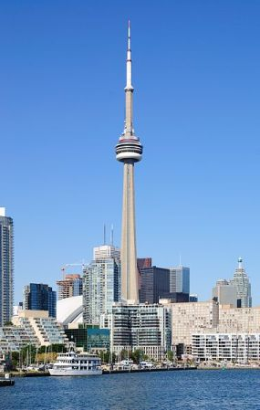 The CN Tower is the tallest building in Canada.