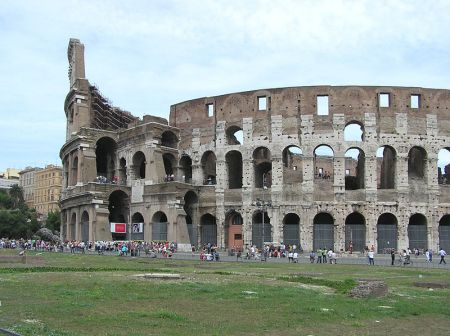 A view of the Colosseum in Rome.
