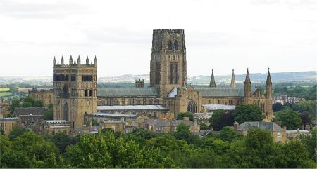 A view of Durham Cathedral from the south.