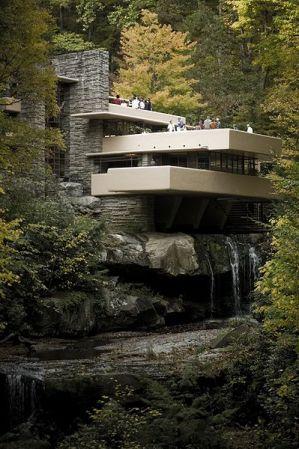 The Frank Lloyd Wright-designed residence, Fallingwater, has many Japanese influences.