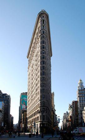 The Flatiron Building in Manhattan.