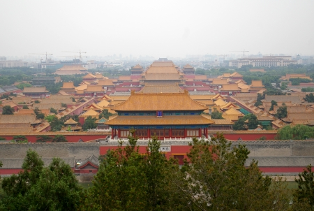 The Forbidden City in Beijing consists of a complex of temples and other buildings.