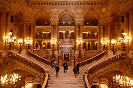 The Grand Staircase is one of the Palais Garnier's most remarkable features.