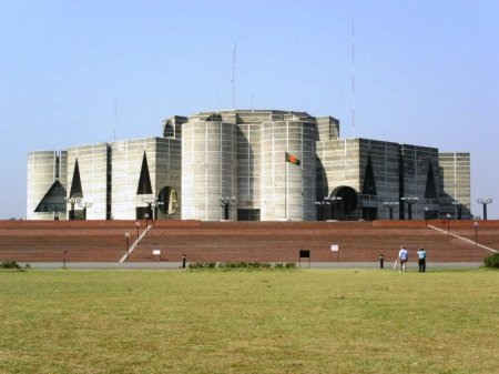 The Bangladesh Parliament House.