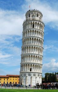 The Leaning Tower is the campanile, or bell tower, for the Pisa Cathedral complex.