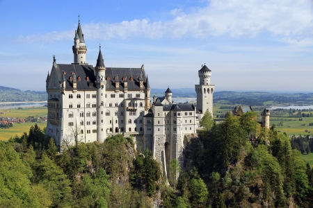 Neuschwanstein Castle was designed as a retreat for Bavarian King Ludwig II. He didn't want to spend public funds, so he used his own.