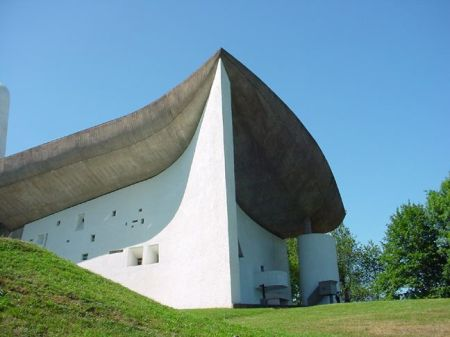 Le Corbusier's building replaced a 4th Century pilgrimage church that had been destroyed in World War II.