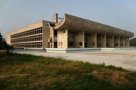 The Palace of Assembly building is only one of many structures designed by Le Corbusier for the government seat of