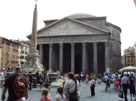 A temple for Roman gods, the Pantheon survived because it was converted to a Christian church.