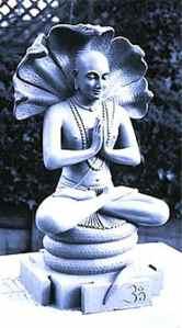 An artist's imagining of Patanjali.