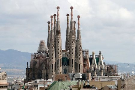 The Sagrada Familia church is due to be finished in 2026.