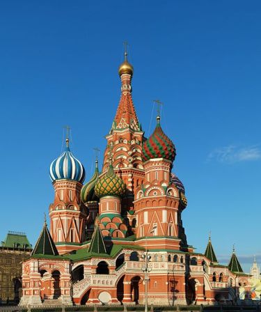 The onion domes of St. Basil appear to have no precedent in architecture.
