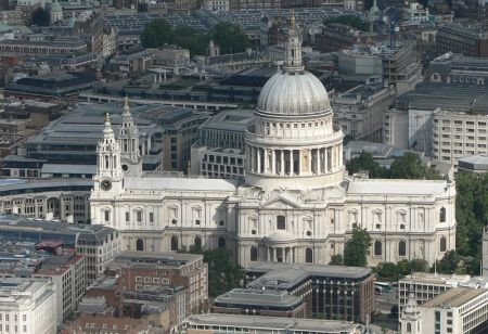 St. Paul's Cathedral was the target of Nazi bombers during World War II.