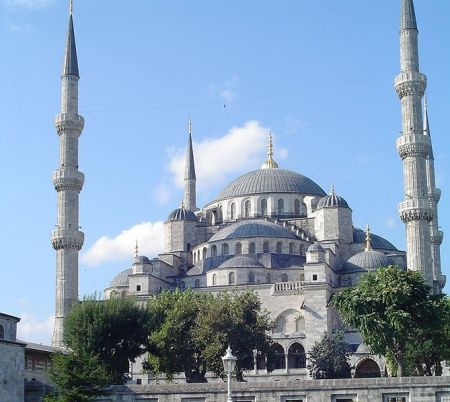 "The nickname ""Blue Mosque"" comes from the blue tiles in the entranceway."