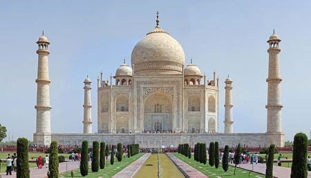 The Taj Mahal is a tomb for the wife of Shah Jahan.