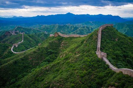 A view of the Great Wall at Jinshanling.