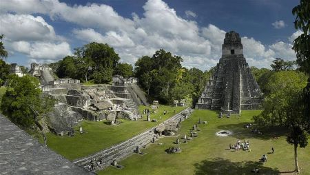 Tikal was the main city of a thriving Mayan civilization in modern-day Guatemala and Belize.