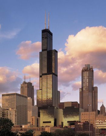 The Willis Tower in Chicago, formerly the Sears Tower, was for a time the tallest building in the world.