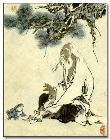 A posthumous portrait of Zhuangzi.