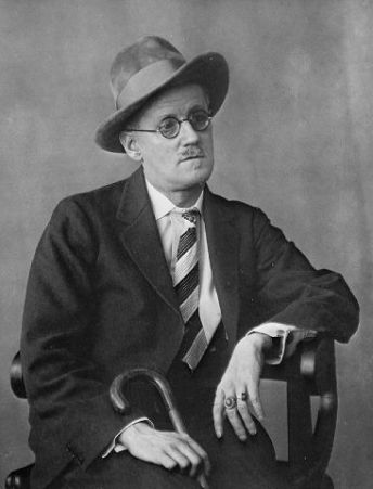 Portrait of James Joyce.