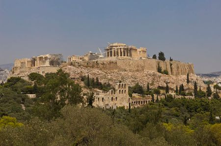 In addition to containing temples and other public buildings, the strategic Athenian hilltop called the Acropolis was heavily fortified in case of invasion.