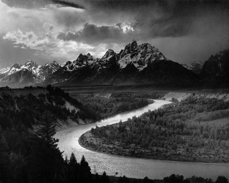 The Tetons and the Snake River.